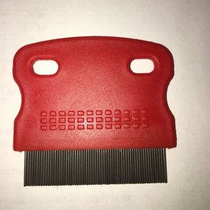 Red Plastic Handle Fine Tooth Flea Comb